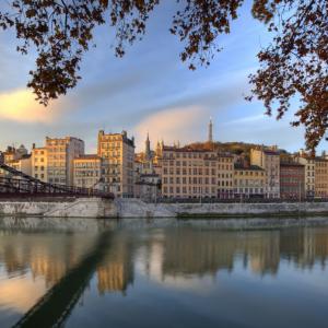 Le Vieux- Lyon et la Passerelle Saint-Vincent © Tristan Deschamps